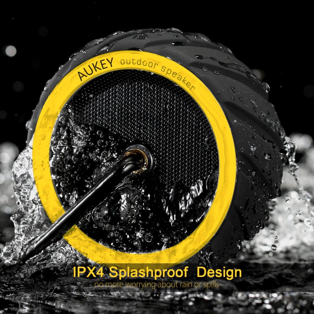 The Aukey SK-M4 Waterproof Bluetooth Shower Speaker