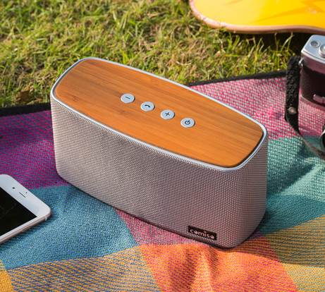 Comiso 30W Bamboo Wood Wireless Speaker 1