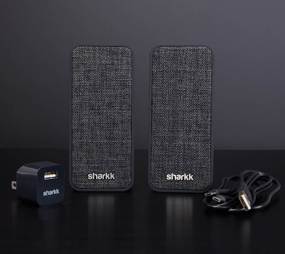 Sharkk Twin Wireless Computer Speaker