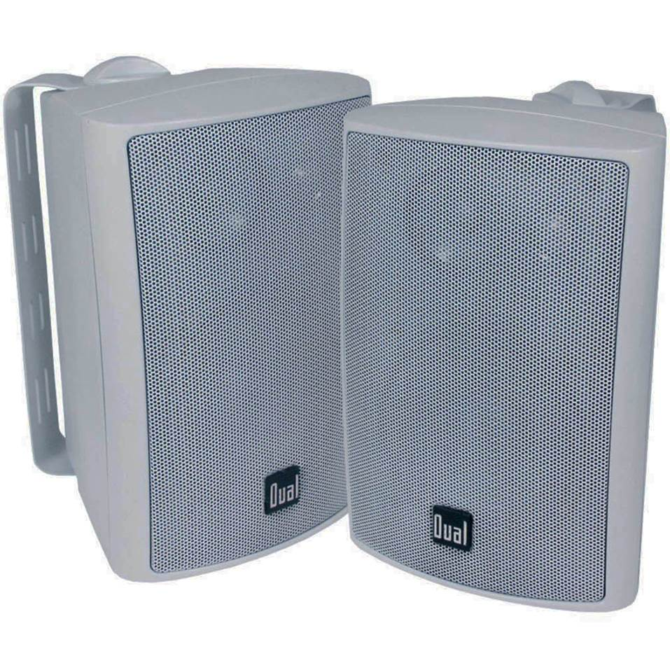 #1 Best Overall: Dual Electronics 4 Inch 3 Way High Performance Outdoor  Speakers