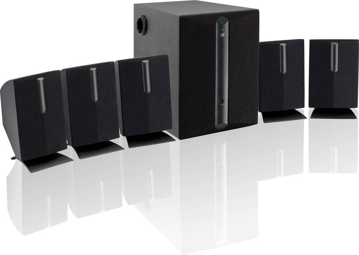 GPX HT050B 5.1 Surround Sound Speakers