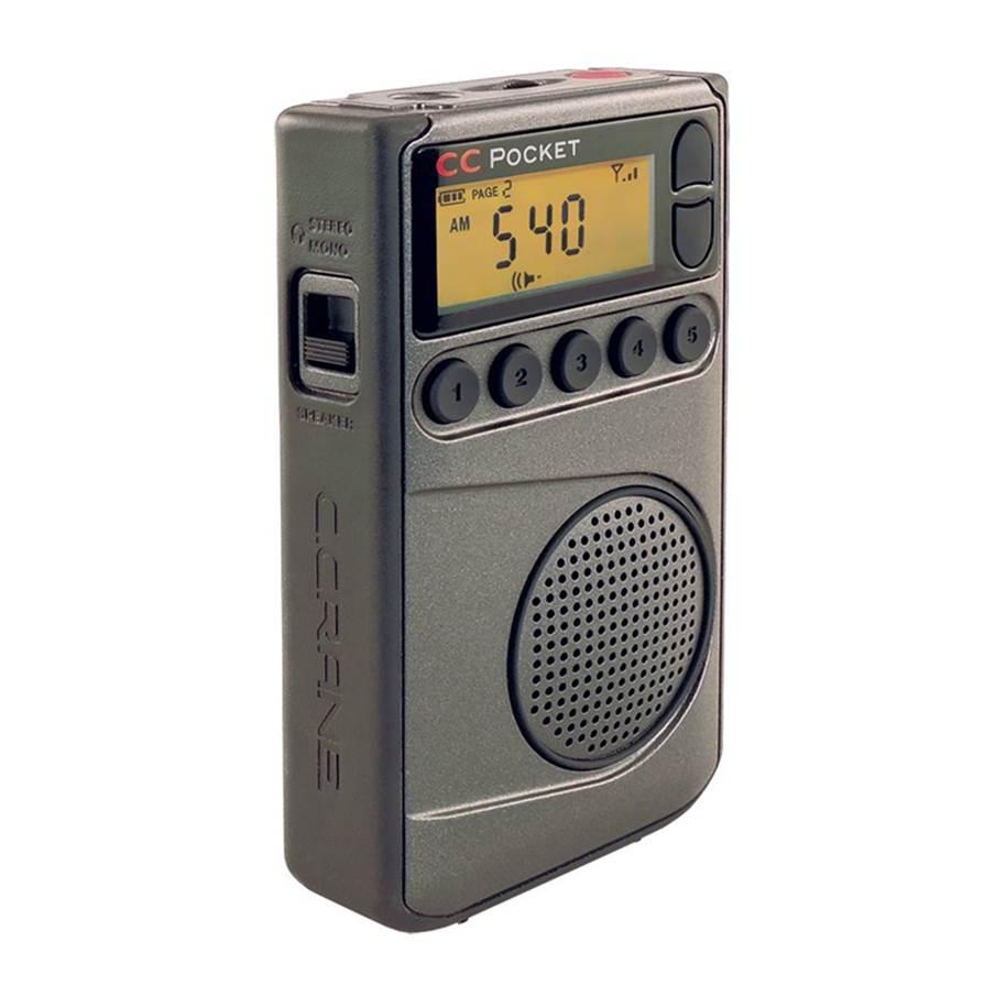 C. Crane CC Pocket AMFM Pocket Portable Radio