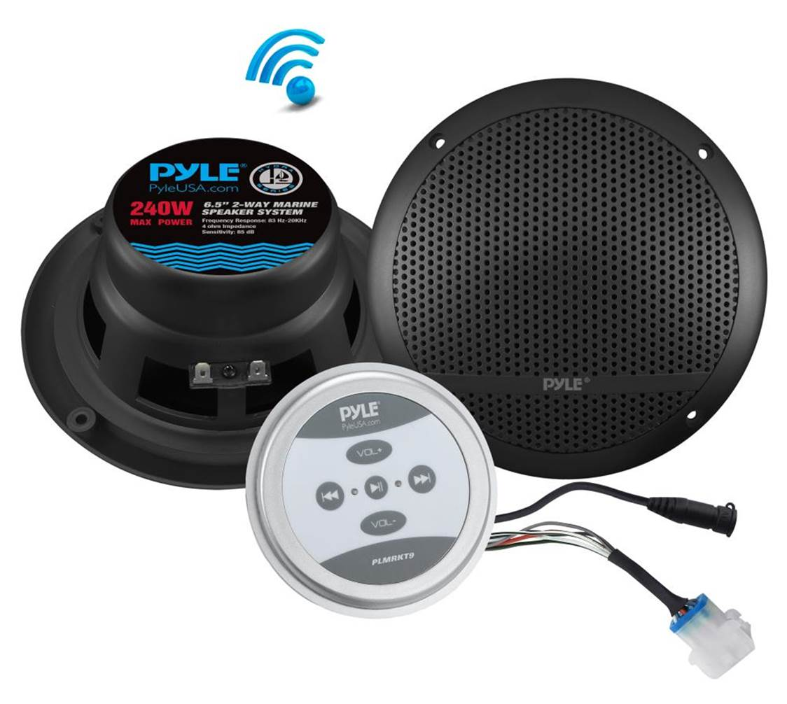 "Pyle 6.5"" Bluetooth Marine Speakers"