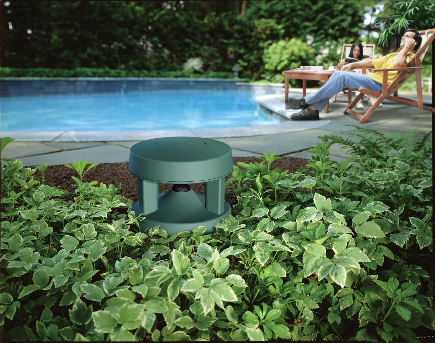 Hidden Outdoor Speakers That Blend Into The Garden