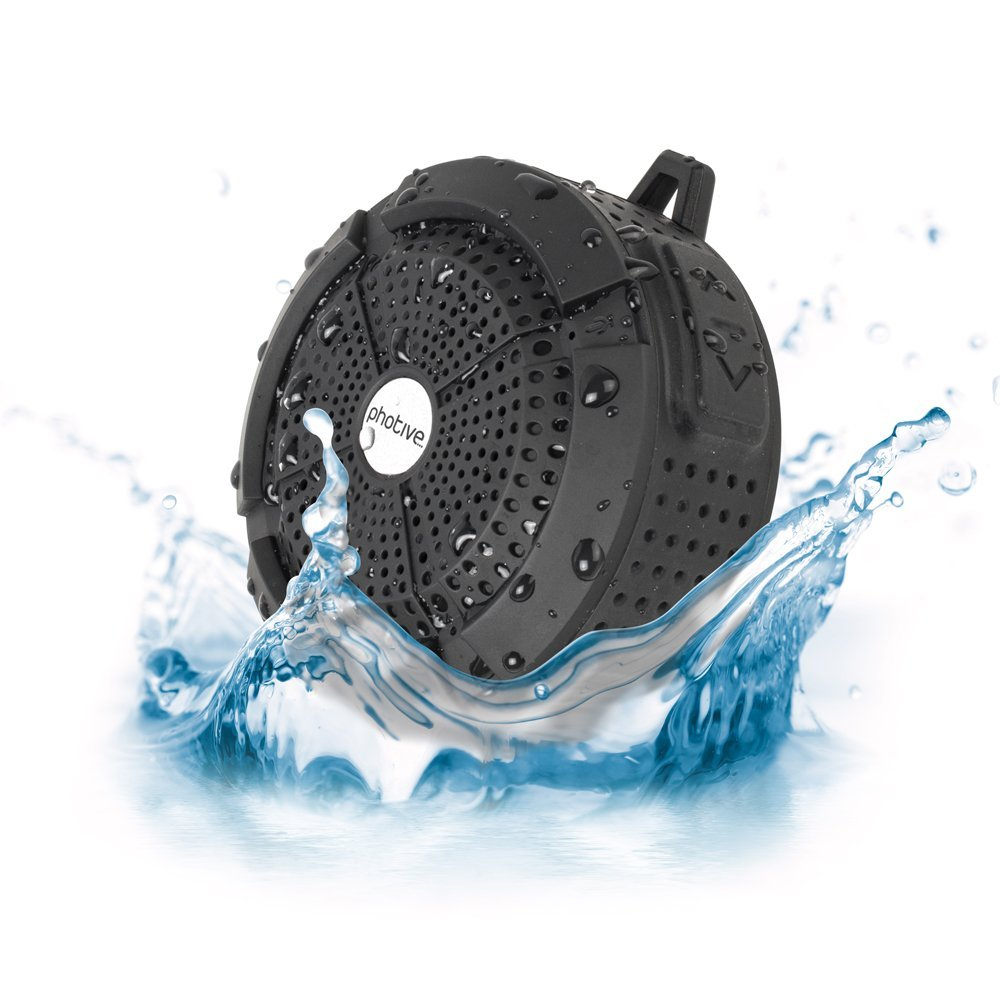 Photive Waterproof Bluetooth Shower Speaker