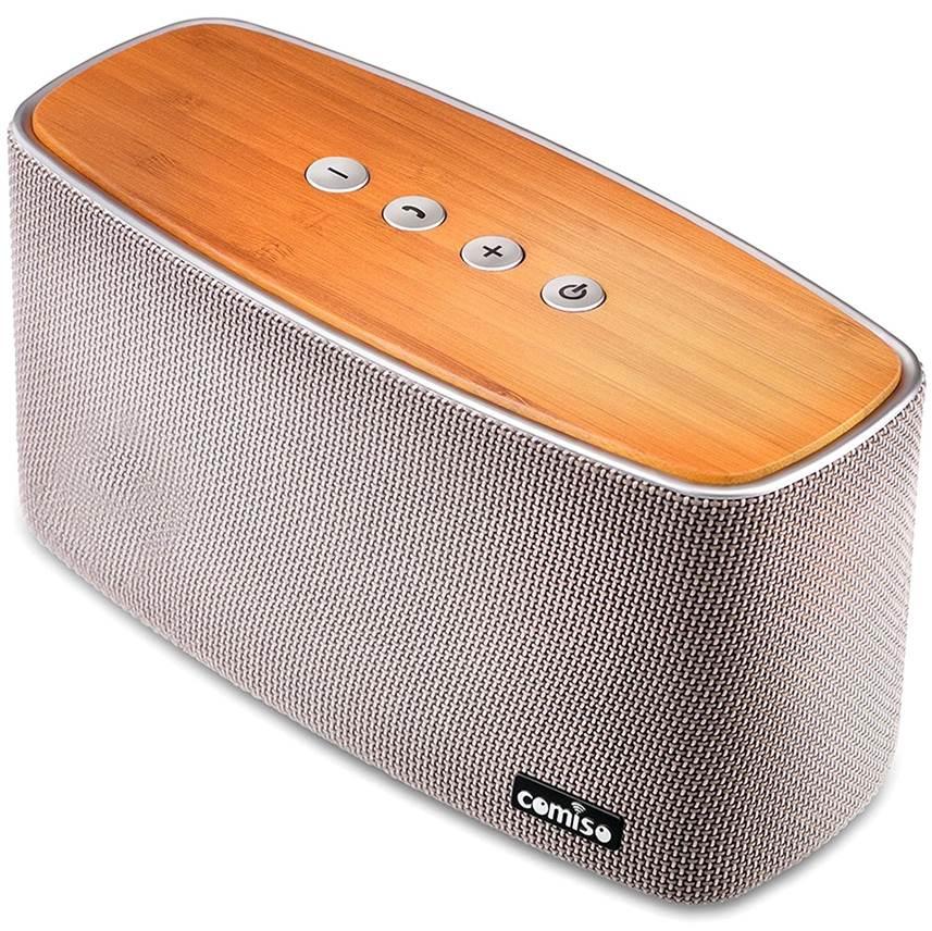 Comiso 30W Bamboo Wood Wireless Speaker