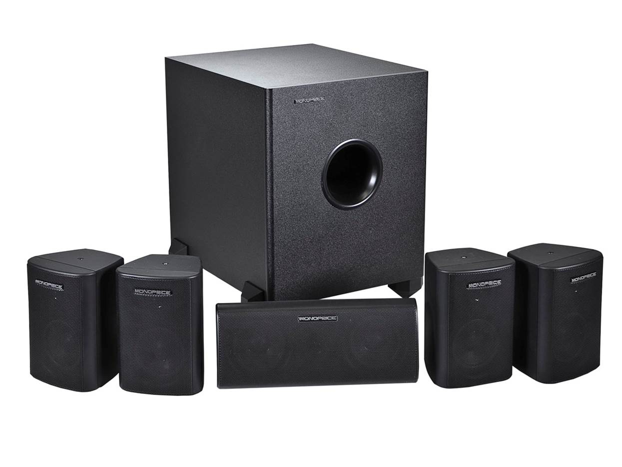 Monoprice 5.1 Channel Surround Sound Speakers