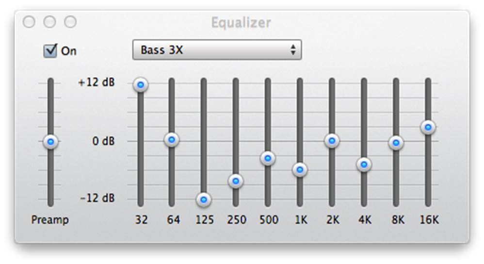 Bass EQ Settings