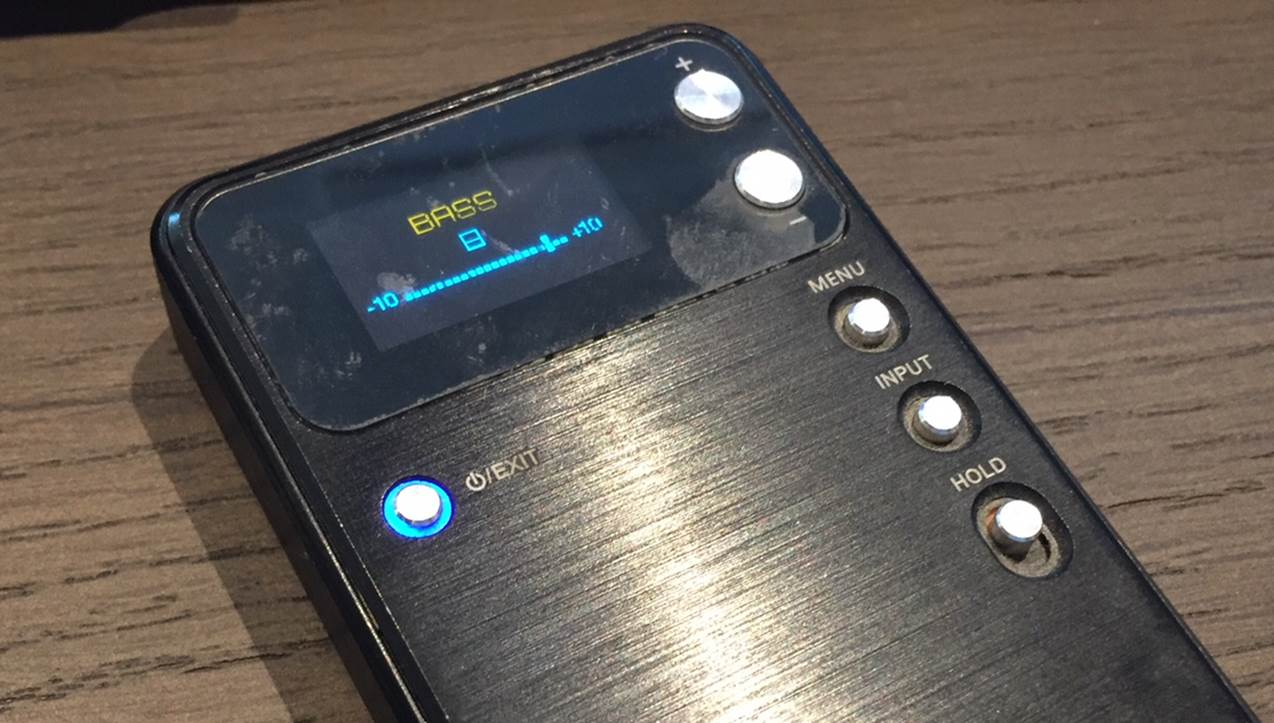 FiiO E17 Headphone Amplifier Bass Display