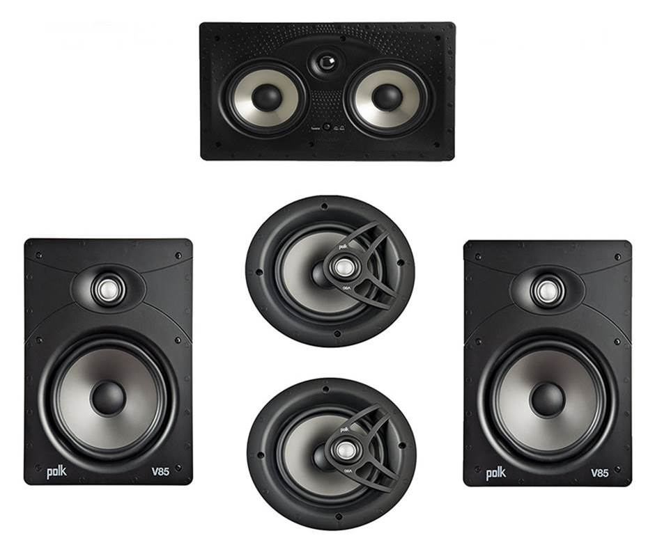 Polk Audio V85 5.0 In Ceiling Surround Sound Speakers