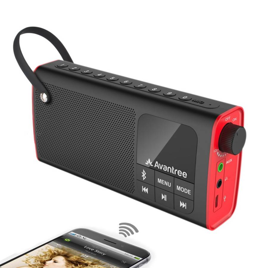 Avantree 3-in-1 Portable FM Radio