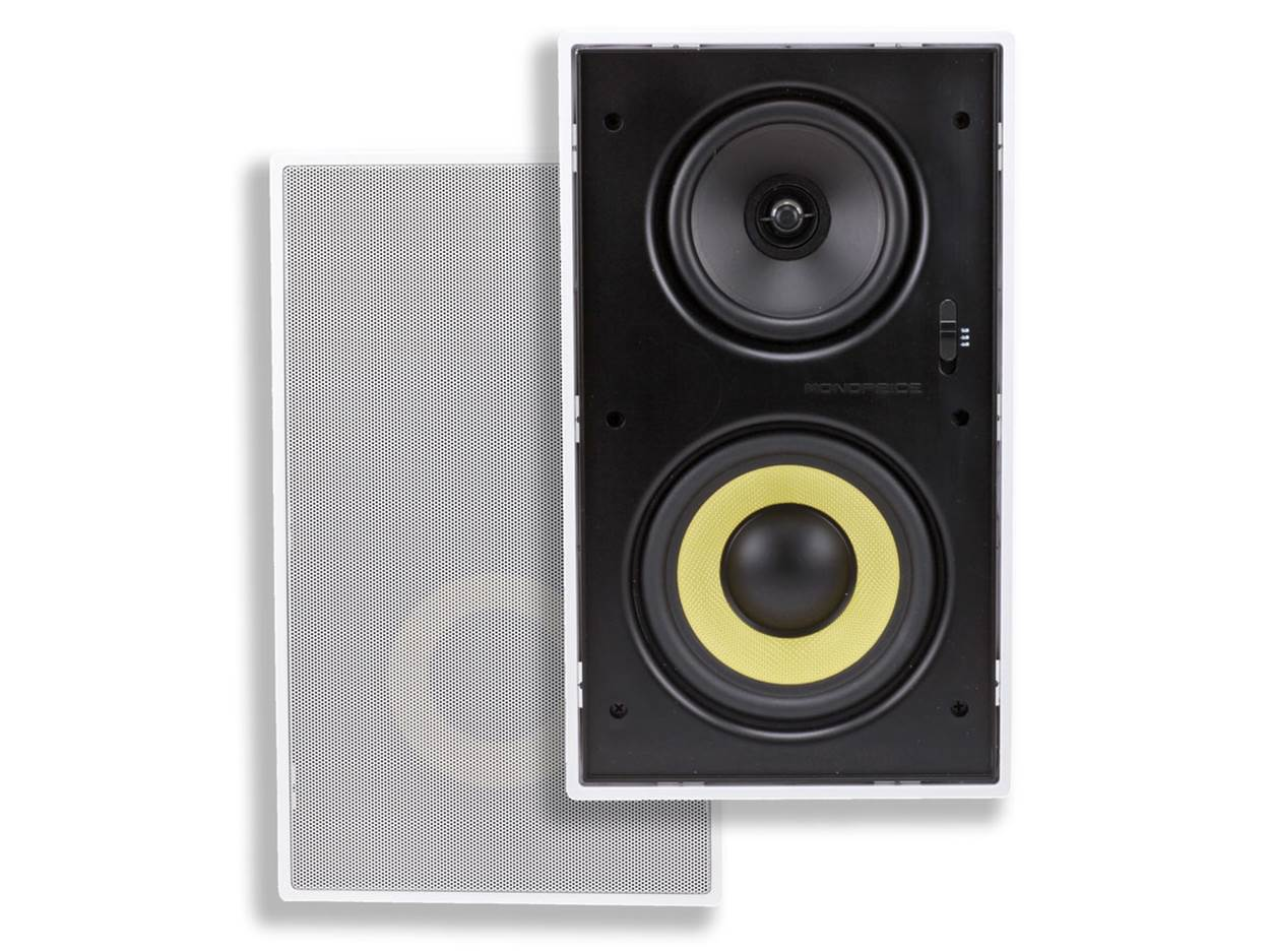 """Monoprice Caliber 8"""" In-Wall Speakers"""