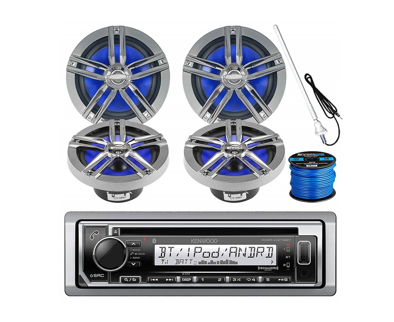 Kenwood KMR-D372BT Bluetooth Marine Speakers