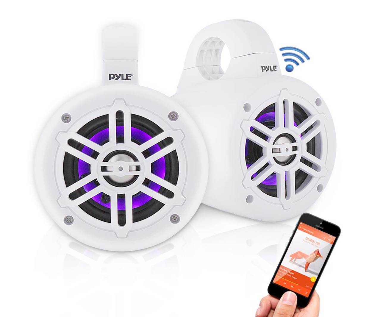 Pyle Wakeboard Bluetooth Marine Speakers