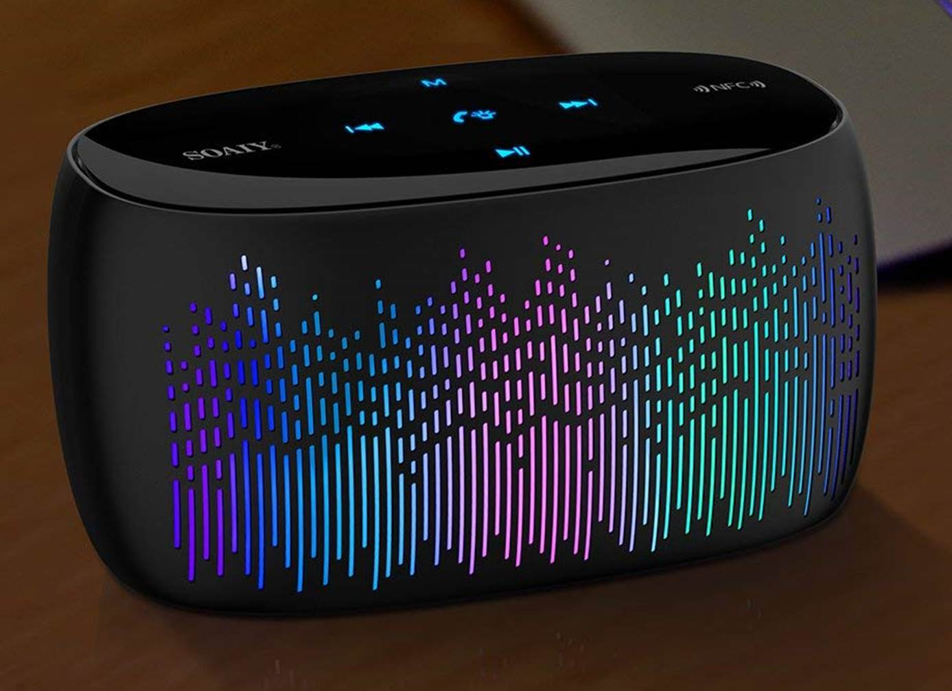 SOAIY S52 LED Bluetooth Speaker with Lights