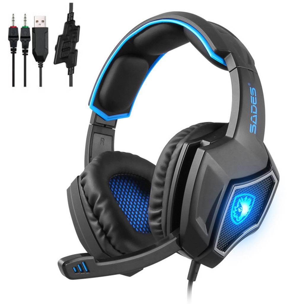 SADES Spirit Wolf Surround Sound Headphone