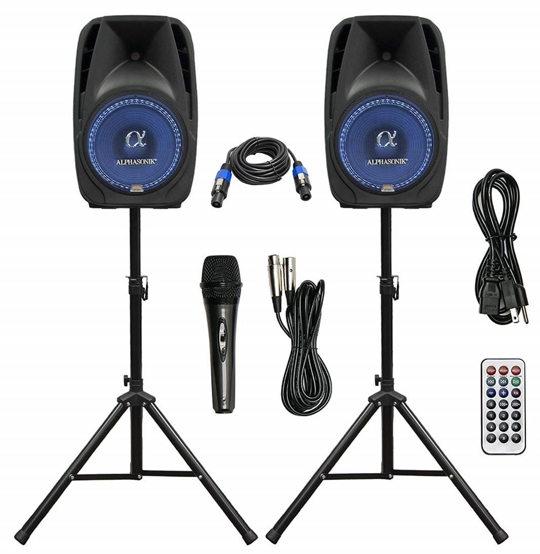 "Alphasonik 8"" Powered DJ Speakers"
