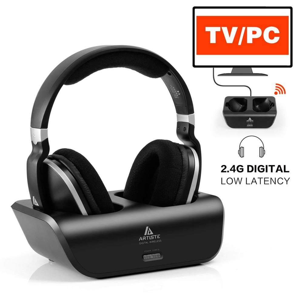 Artiste AHD300 Wireless Headphones for Samsung TV