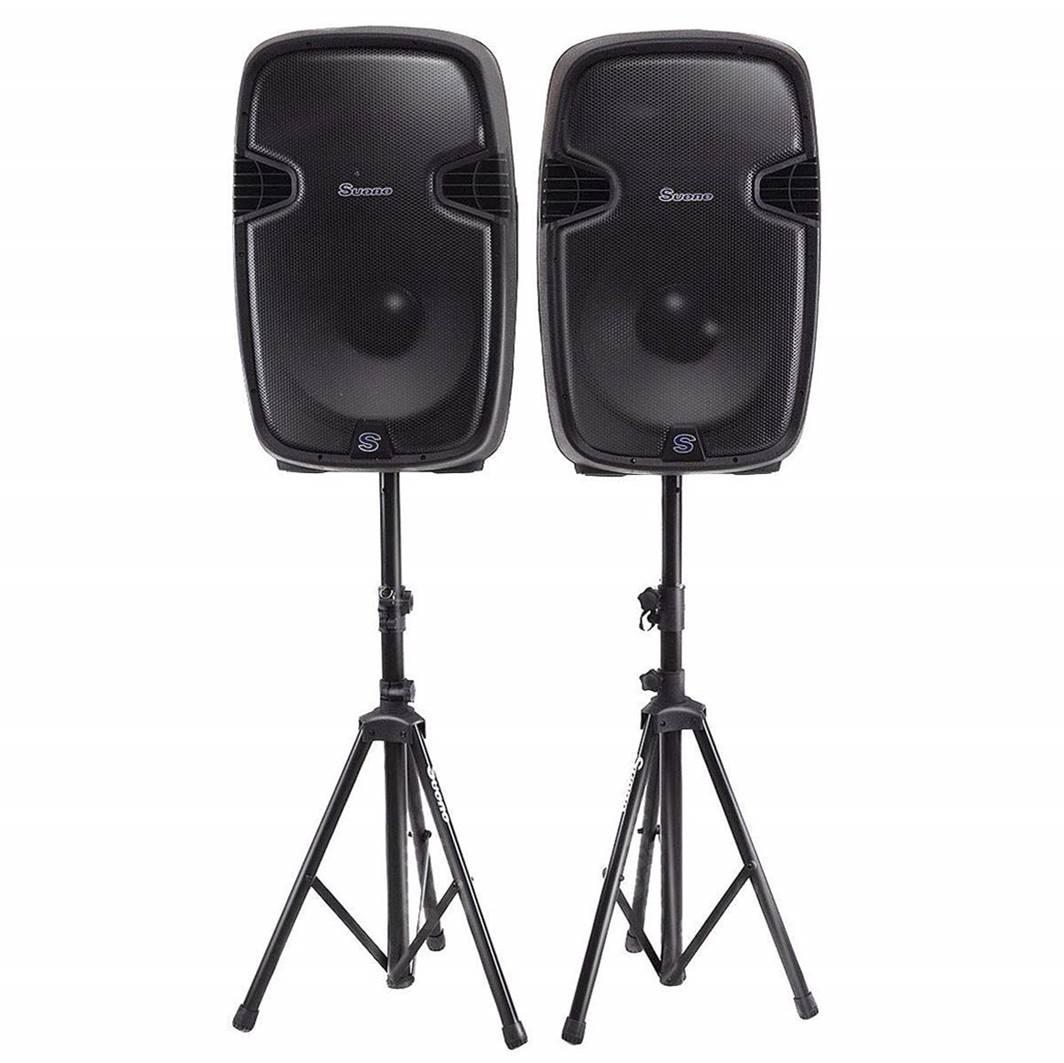 """Costway Dual 12"""" Powered DJ Speakers"""