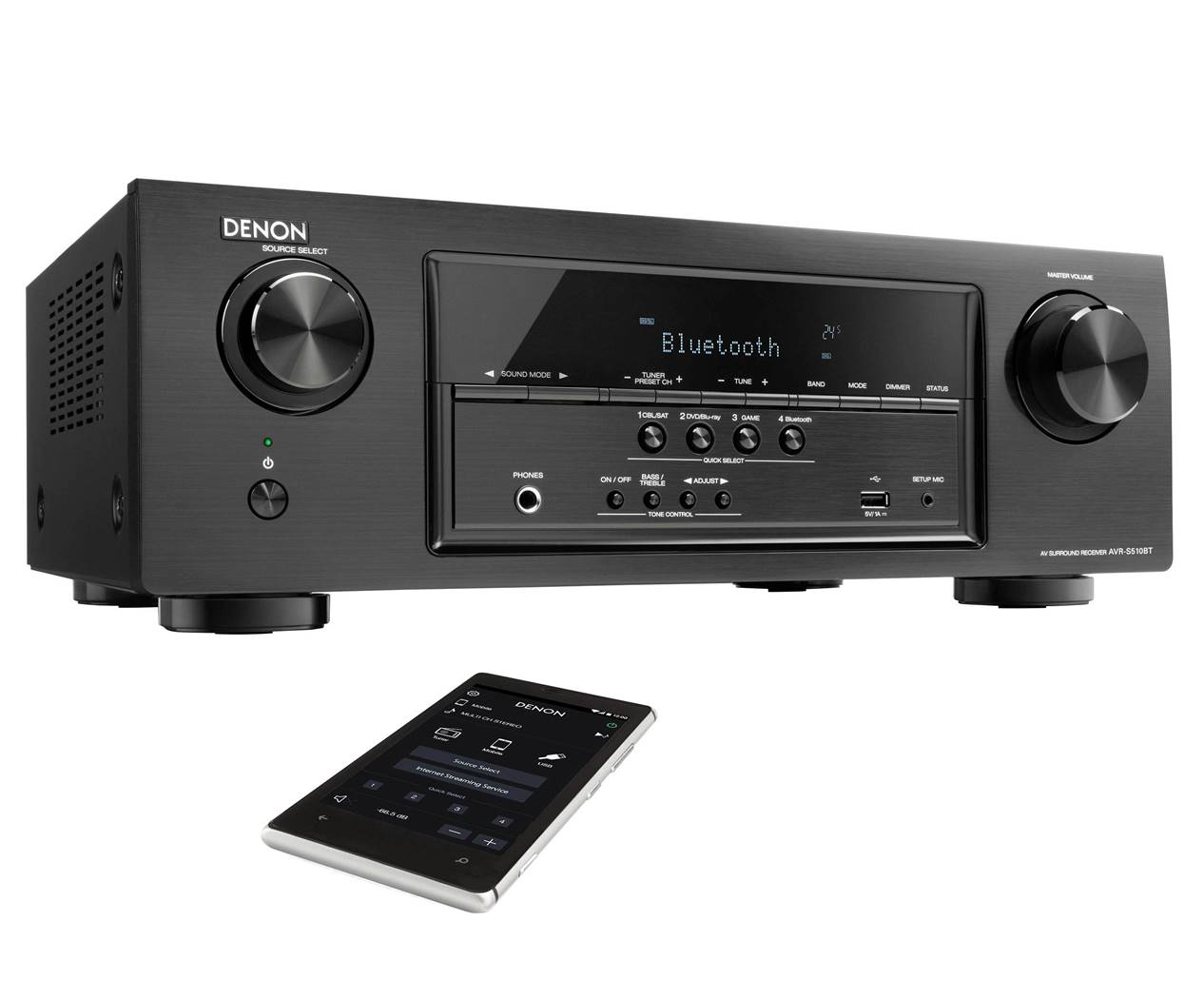 Denon AVR-S510BT AV Receiver for Home Theater