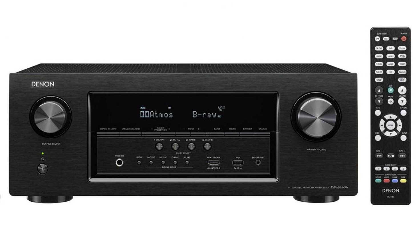 Denon AVR-S920W AV Receiver for Home Theater