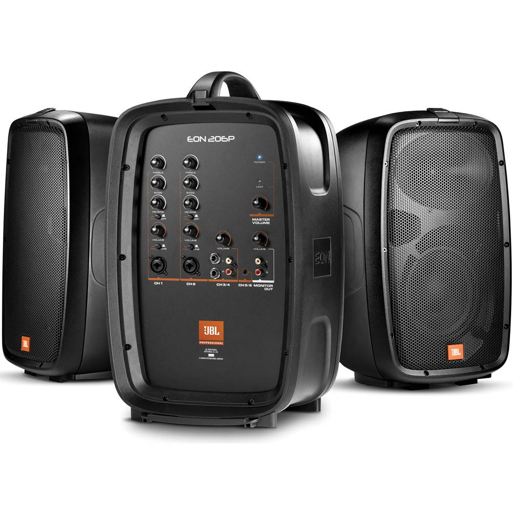 JBL EON206P Powered PA Speakers