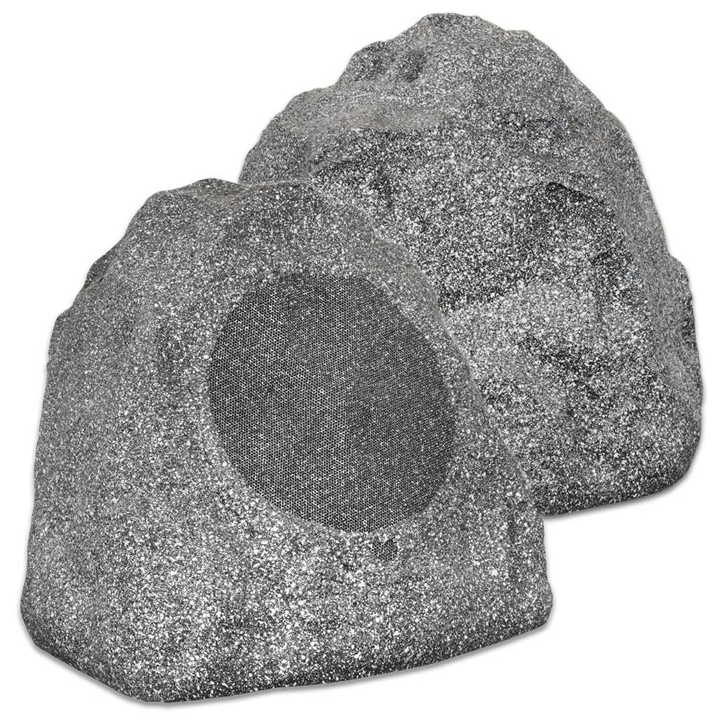 Theater Solutions 2R8G Granite Outdoor Rock Speakers