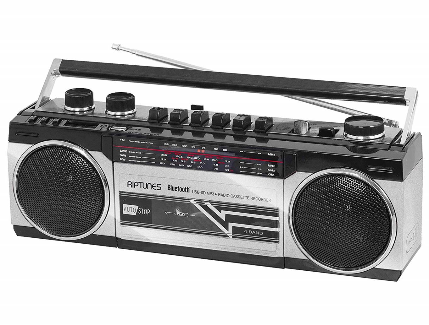 Riptunes Retro Bluetooth Boombox