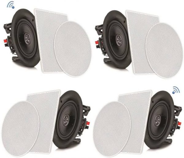 "Pyle PDICBT286 8"" 4 Bluetooth Ceiling Speaker System"