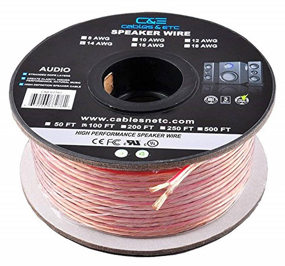 C&E 12 AWG Enhanced Speaker Wire