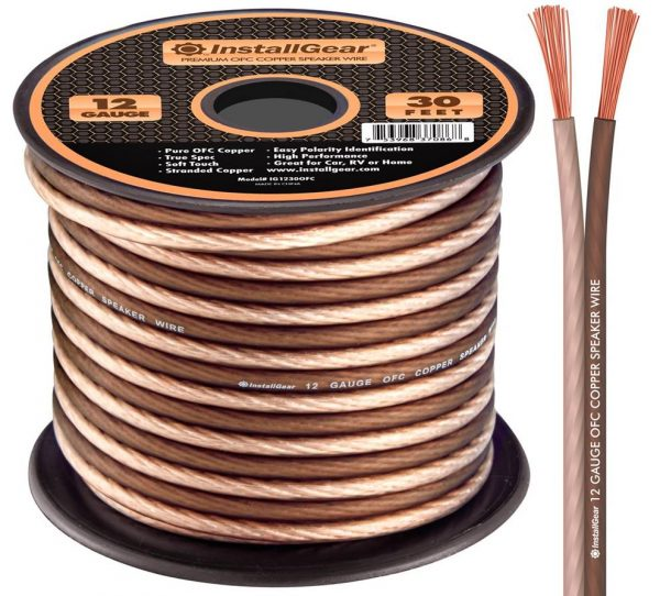InstallGear 12 Gauge Speaker Wire