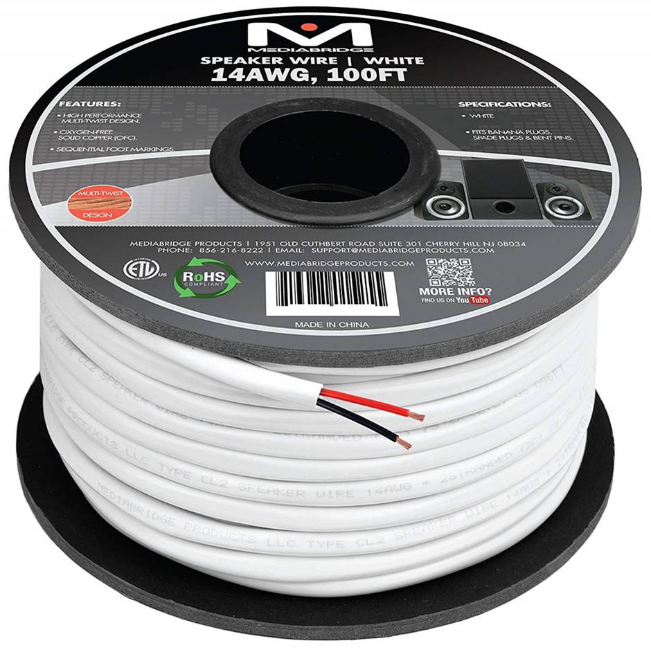 Mediabridge 14AWG 2-Conductor Speaker Wire