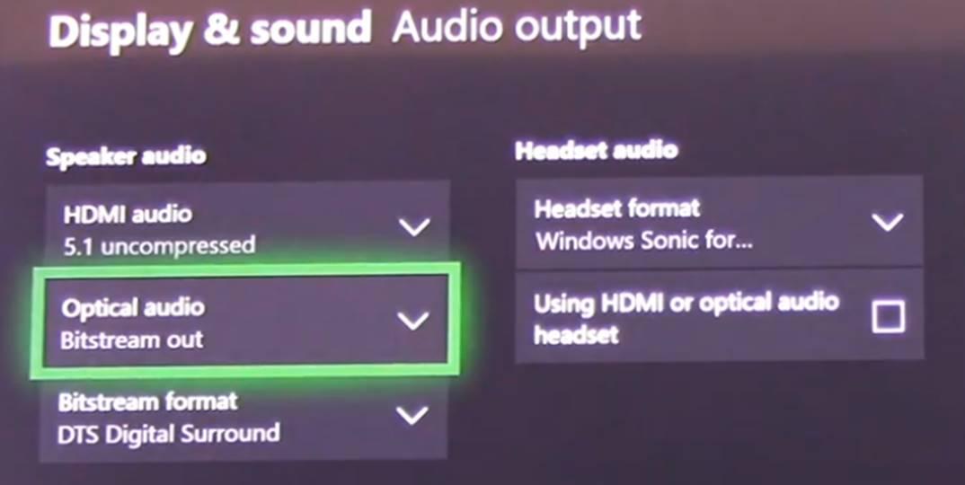 Xbox One Configuration Options